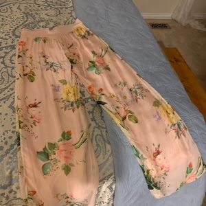 Floral flowy pant, made in Italy
